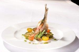 super lecker Fisch - Restaurant-Essen in der Villa Waldeck