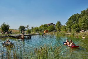 Villa Waldeck Schwimmteich Sommer